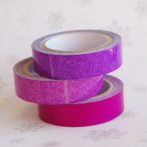 Csillámos ragasztószalag csomag - lila